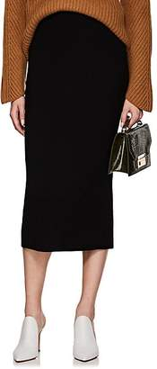 Victoria Beckham Women's Rib-Knit Wool-Blend Pencil Skirt - Black
