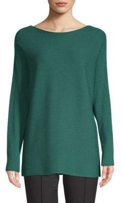 Lafayette 148 New York Ribbed Dolman Sleeve Pullover