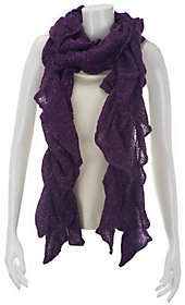 After the Rain Ruffle Scrunch Scarf with Lurex