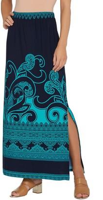 255cb452e8 ... Susan Graver Regular Printed Liquid Knit Maxi Skirt