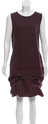 Marni Linen Tiered Mini Dress