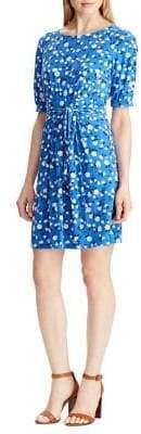 Chaps Floral Fit--Flare Dress