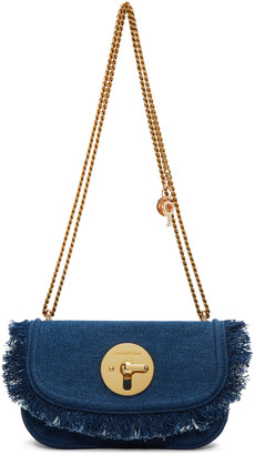 See by Chloé Blue Denim Lois Bag $335 thestylecure.com
