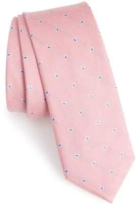 The Tie Bar Budding Paisley Silk & Linen Tie
