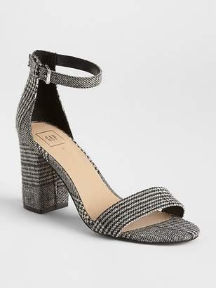 Gap Plaid Block Heel Sandals