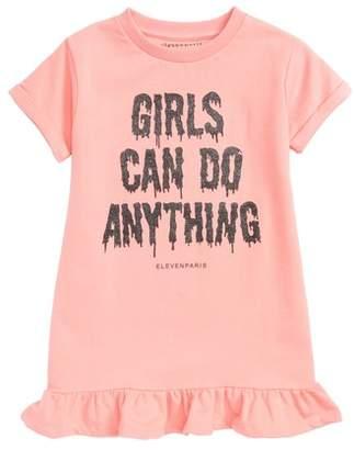 Little Eleven Paris Little ELEVENPARIS Girls Can Do Anything Graphic Dress