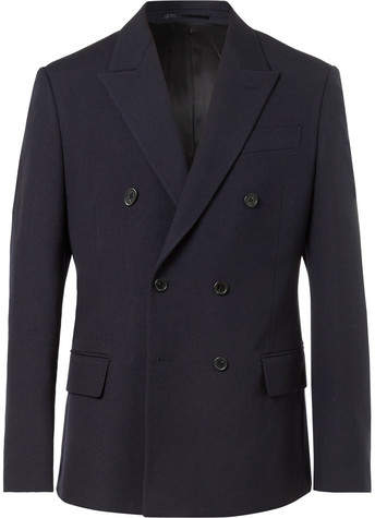 Stella McCartney Charles Slim-Fit Double-Breasted Wool Jacket