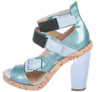Nicholas Kirkwood Patent Leather Ankle-Strap Sandals