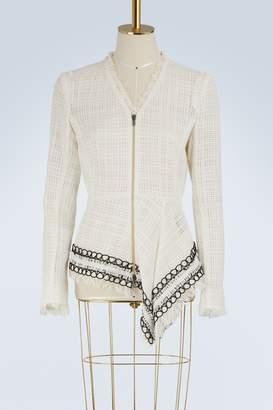 Roland Mouret Hayton asymmetrical zipped top