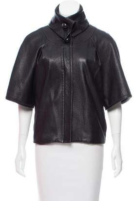 Sheri Bodell Zip-Up Leather Jacket