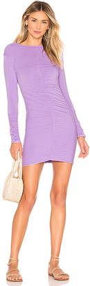Indah Marzipan Ruched Mini Dress