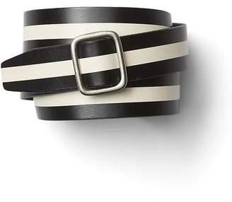 Gap Stripe leather belt