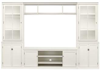 Pottery Barn Logan Media Suite with Cabinet Doors, Glass Towers & Bridge