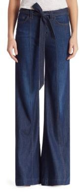 7 For All Mankind Belted Denim Palazzo Pants $199 thestylecure.com