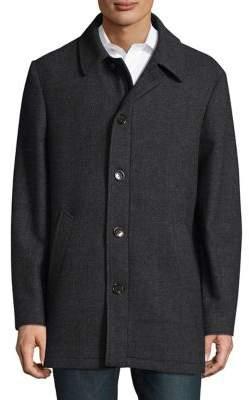 Lauren Ralph Lauren Herringbone Wool-Blend Topcoat