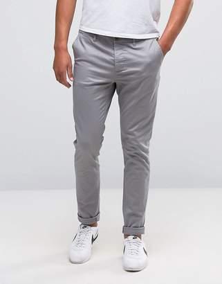 Asos DESIGN Skinny Chinos In Gray
