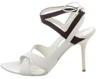 Narciso Rodriguez BiColor Pointed-Toe Sandals Grey BiColor Pointed-Toe Sandals