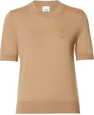 Burberry Monogram Motif Cashmere Top