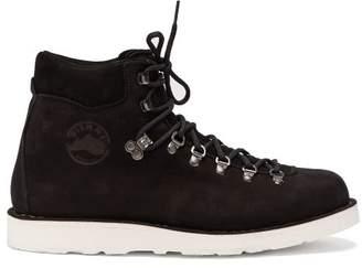 Diemme Roccia Vet Suede Lace Up Ankle Boots - Mens - Black