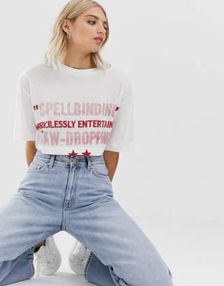 Cheap Monday organic crop t-shirt with script