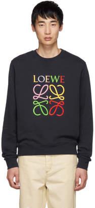 Loewe Navy Anagram Sweatshirt