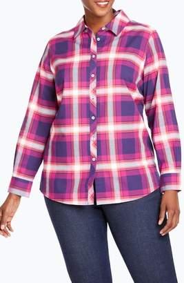 Foxcroft Trisha in Fall Tartan Plaid Shirt