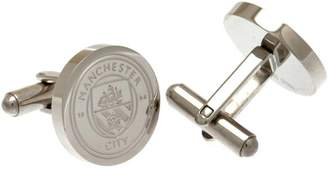 Manchester City Stainless Steel Man City Crest Cufflinks.