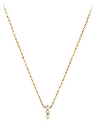 Amrapali Legend Tarakini Three-Diamond Pendant Necklace