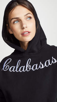 KENDALL + KYLIE Embroidered Oversize Fleece Sweatshirt