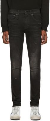 R 13 Black Sid Skinny Jeans