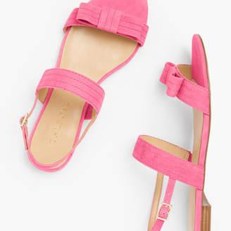 Talbots Keri Stitched-Bow Sandals - Suede