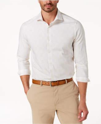 Tasso Elba Men's Melange Plaid Shirt, Created for Macy's