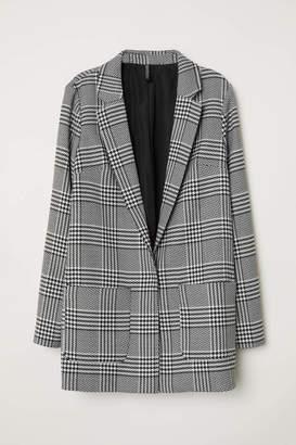 H&M Pattern-weave Jacket - Black/white patterned - Women