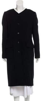 Dolce & Gabbana Virgin Wool Longline Coat