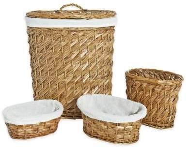 Lamont Home LaMont Home Hudson 4-Piece Hamper Basket Set in Natural