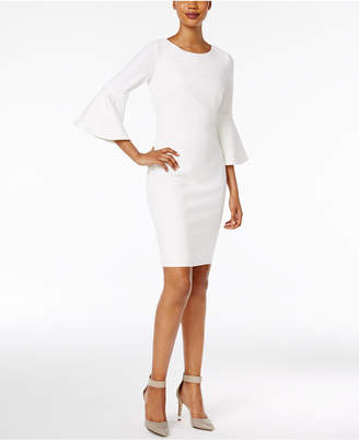 d5a1fd82 Calvin Klein Petite Bell-Sleeve Sheath Dress