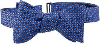 Ted Baker Dogtooth Check Silk Bow Tie