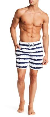 Franks Brushstroke Print Mid Length Swim Trunk