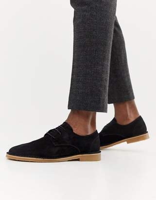 Office Inferno desert shoes in black suede