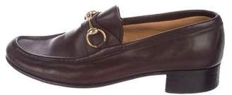 Gucci Vintage Leather Horsebit Loafers