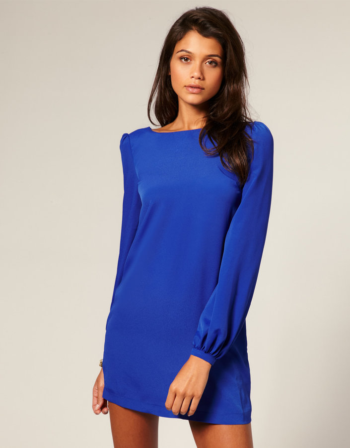 ASOS Shift Dress with Bell Sleeve