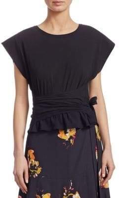 A.L.C. Vera Short-Sleeve Tie-Waist Tee