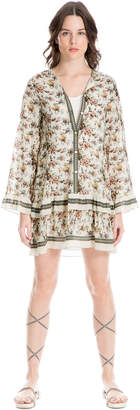 Max Studio floral print tiered crepon dress