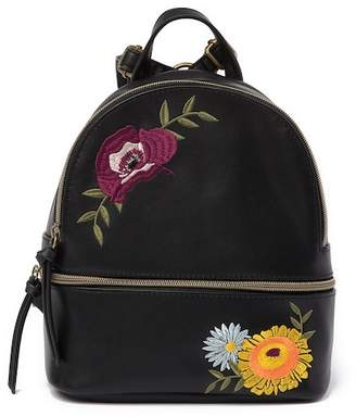 T-Shirt & Jeans Embroidered Floral Mini Backpack