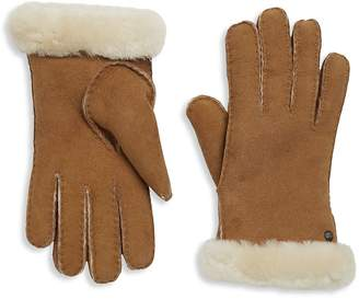 UGG Women's Leather Shearling Gloves