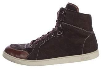 Gucci Guccissima Nylon Sneakers