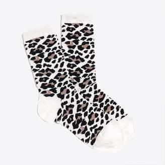J.Crew Leopard print trouser socks