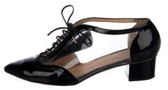 Charlotte Olympia PVC Pointed-Toe Oxfords