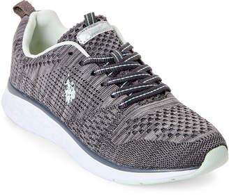 U.S. Polo Assn. Dark Grey & Mint Fana Knit Mesh Sneakers