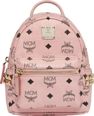 MCM Stark Side Studs Bebe Boo Backpack In Visetos